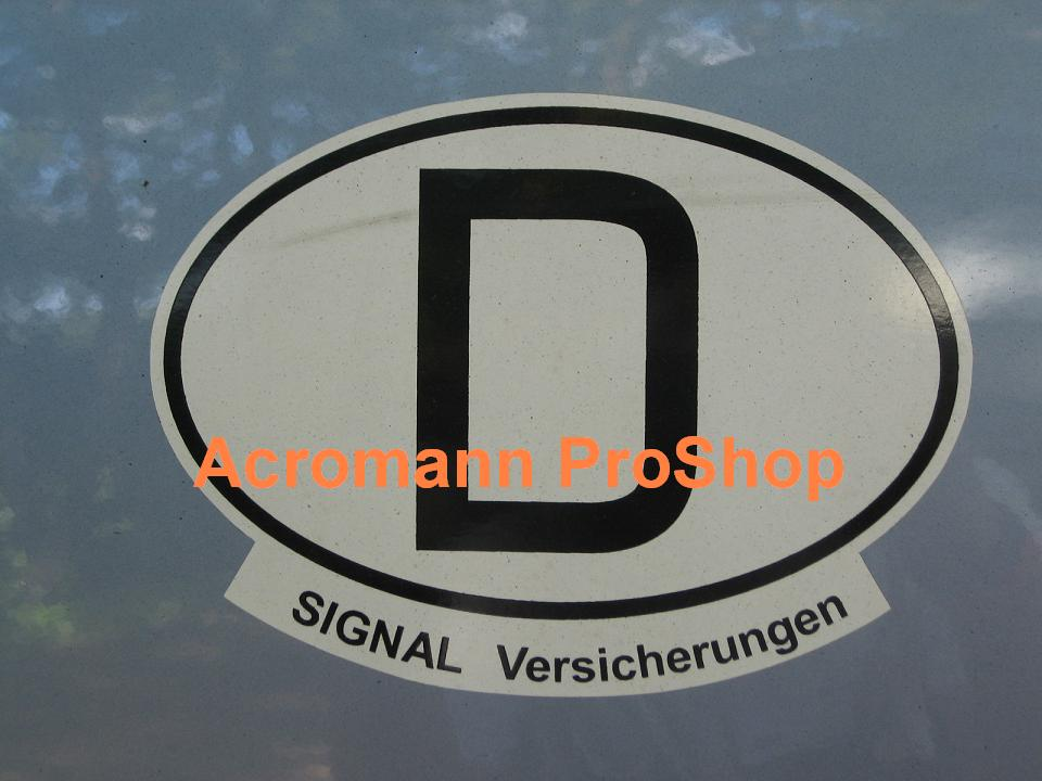 "Germany Oval ""D"" 5.25inch decal (Style#4) x 1 pc"